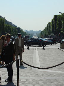 Looking down the Champs-Élysées from the Arc de Triomphe toward the Obelisk, the Jardin des Tuileries, and the Louvre.