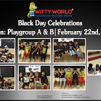 Celebration of Black Day by Playgroup at Witty World BN [ 2015-16 ]