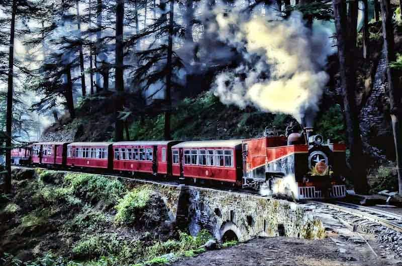 Image result for toy train from kalka to shimla