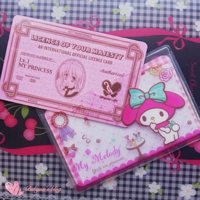 Mi tarjeta de Ojousama, la guardo en un porta tarjeta de My Melody.