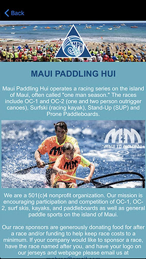 Screenshot for Maui Paddling Hui in United States Play Store