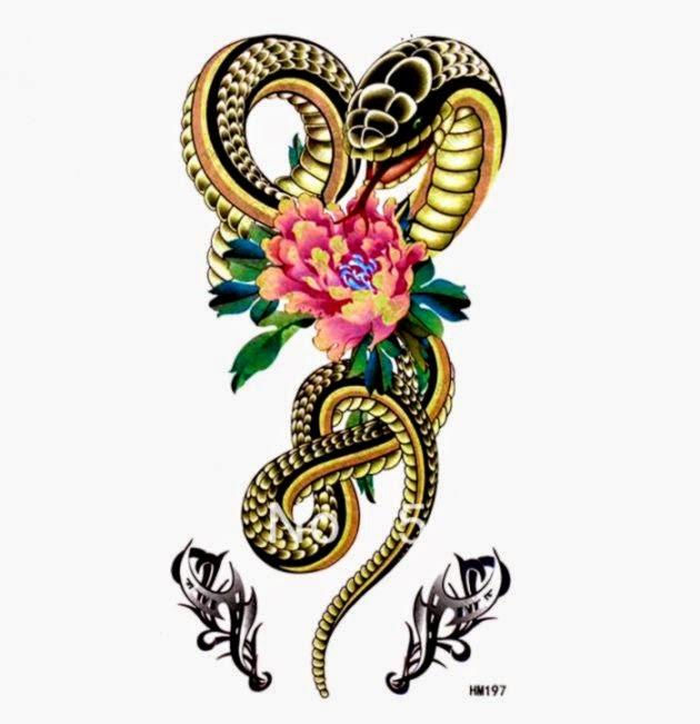 Bán sỉ Chất lượng Cao tạm thời con rắn hình xăm từ Nhà bán sỉ tạm