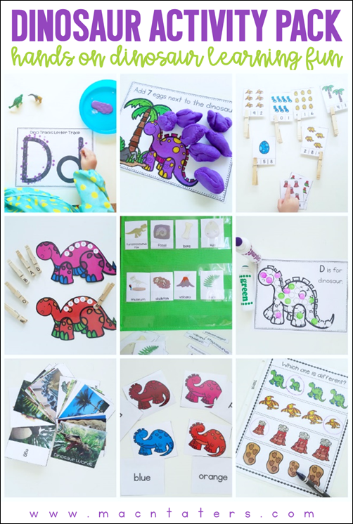 Hands on Dinosaur Learning Activities Pack