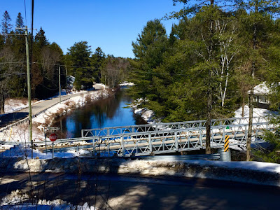 Black river at McCutcheon bridge Vankoughnet. Facing North. April 20 2018. Photo by Chris Varga