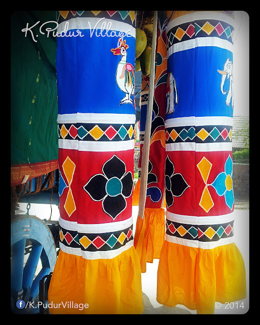 K.Pudur Village Chariot festival 2014 (On the side of Chariot decoration)