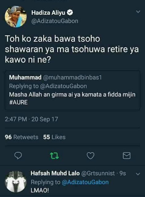 """Advise your father to divorce your mother and marry me""""- Kannywood actress Hadiza Gabon lashes out at man who said she should go and marry"""