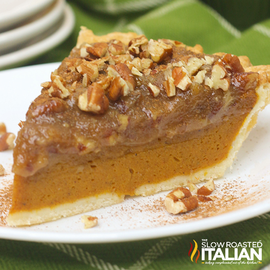 Layered Pecan Pumpkin Pie
