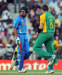Yusuf Pathan out for a duck in South Africa match at Nagpur