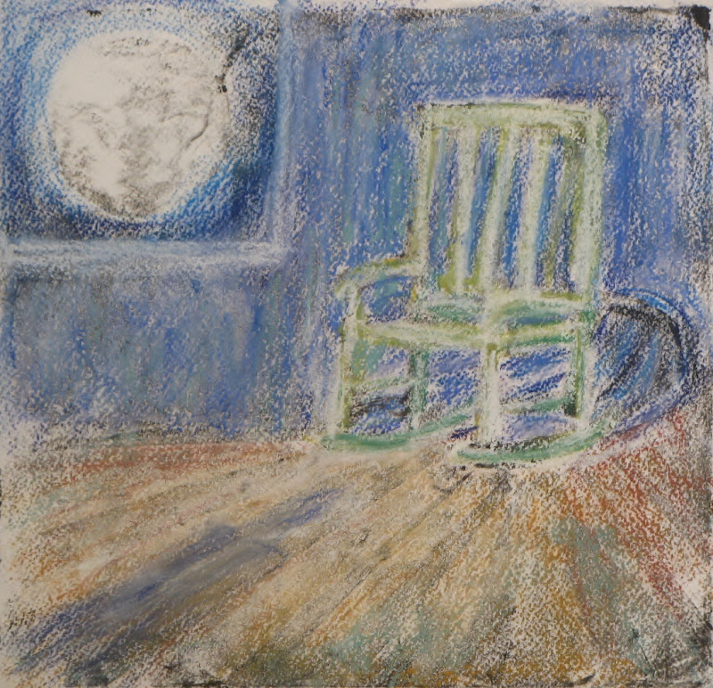 """""""Rocking with the Moon"""",  Collograph"""