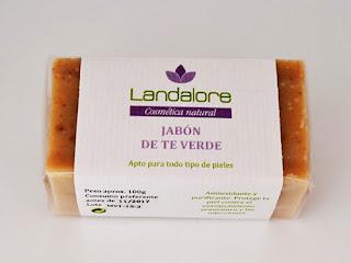 Jabón Natural de Té Verde Landalore