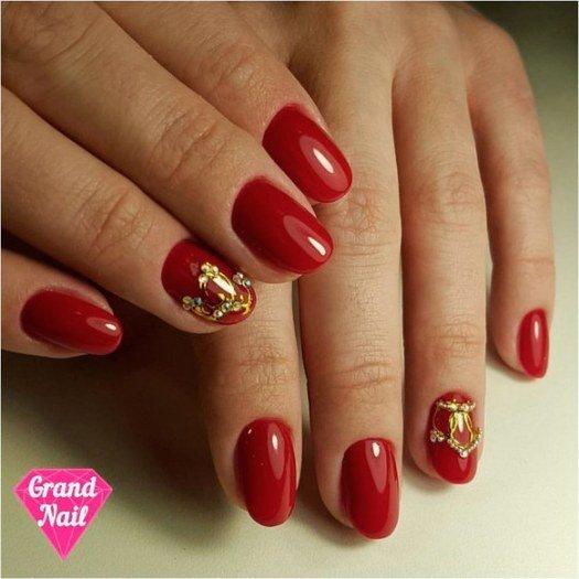 Latest Red Nail Designs-Cute Nail Art Ideas 9