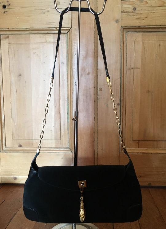 [Gucci+Black+Suede+Evening+Bag%5B4%5D]