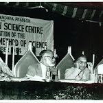 Inauguration of the MOS exhibition HYD 1984. PMB, MGK Menon, NTR, Muddukrishna Naidu.jpg