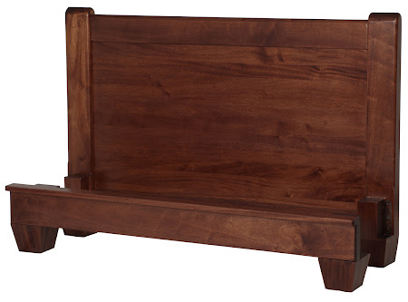 Monrovia Platform Bed in Custom Mahogany (exotic hardwood)