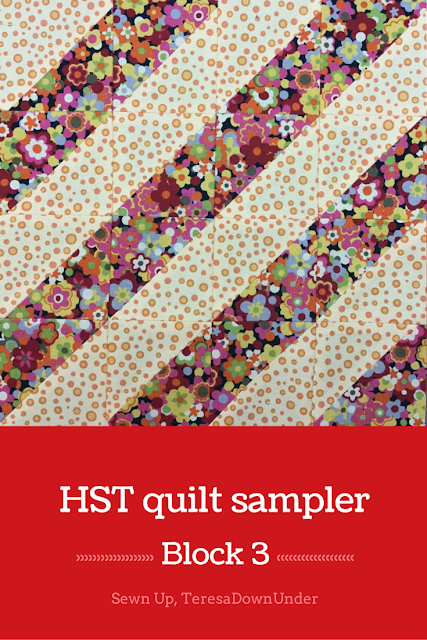 Block 3: 16 HST quilt sampler - beginner quilt