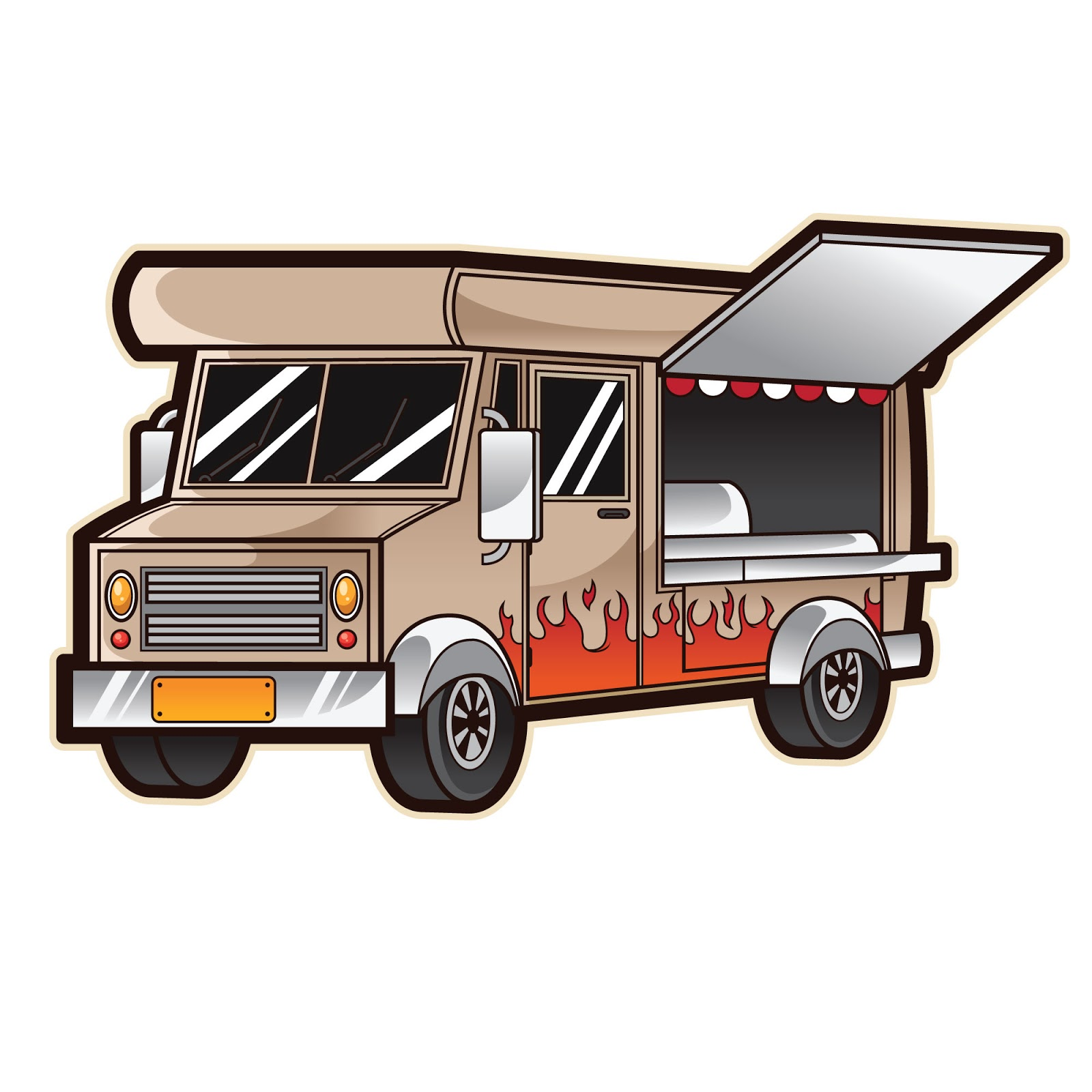 Food Truck Free Download Vector CDR, AI, EPS and PNG Formats