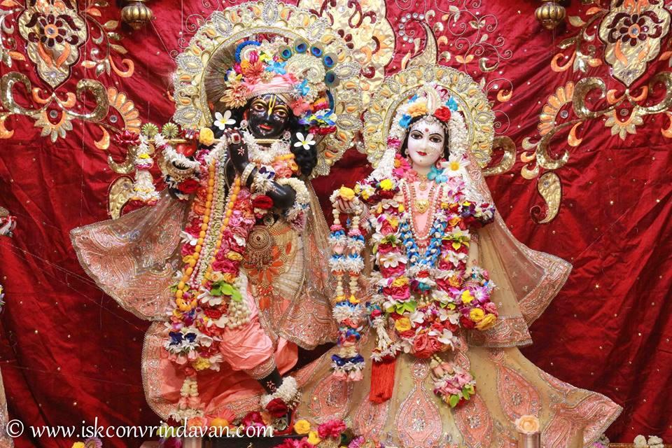 ISKCON Vrindavan Shringar Deity Darshan 2 April  2016  (1)