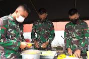 Atasi Kesulitan Warga Korban Gempa di Sulbar, 5 Dapur Bekangdam XIV/Hsn Sajikan 7.500 Nasbung