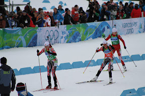 Canadians (team 18) in the transition area