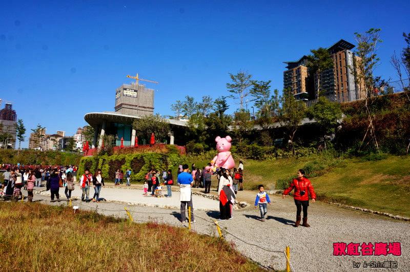 秋紅谷生態公園(白天版)-台中市新興地標景點,景色不錯,約會地點請參考秋紅谷。