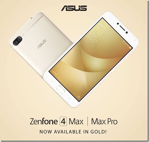 Asus Zenfone 4 Max Pro Gold Edition