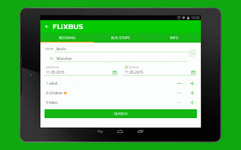 FlixBus bus app - screenshot thumbnail
