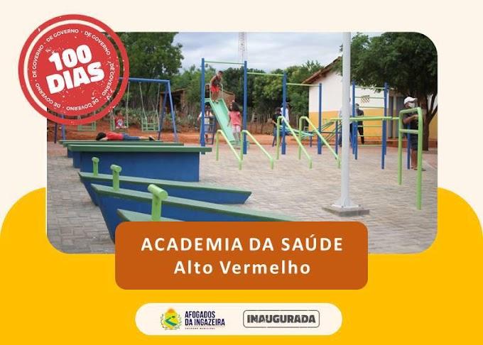 PREFEITURA DE AFOGADOS INAUGUROU ACADEMIA DA SAÚDE NO ALTO VERMELHO