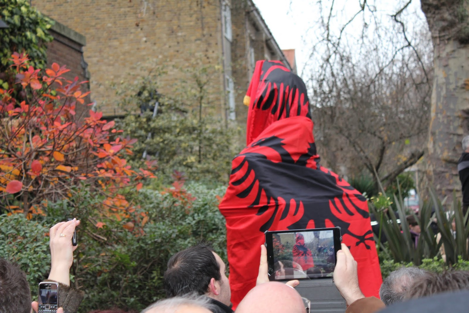 Unveiling of Skanderbeg bust in London