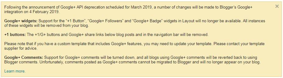 Perubahan Integrasi pada Blogger dan Google+