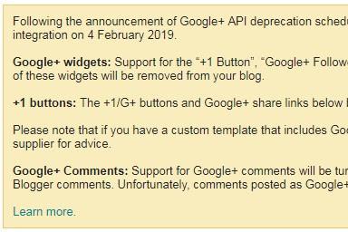 Perubahan Integrasi pada Google+ dan Blogspot
