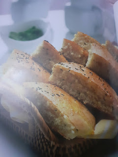 Homemade semolina bread and flour with ingredients and preparation method