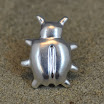 """Silver Bug"" Lapel Pin - Cast Fine Silver"