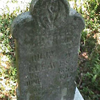 Julia A. (Gadsey) Gleaves Wife of Benjamin Trigg Gleaves Gleaves - Tabler Cemetery Mt. Juliet, Tennessee