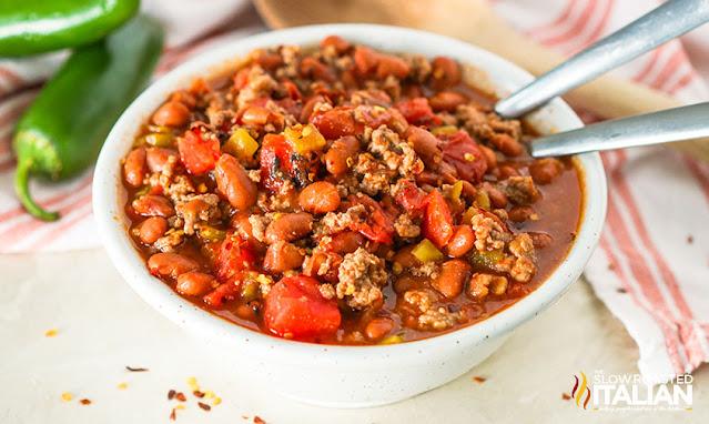 bowl of 5 ingredient chili