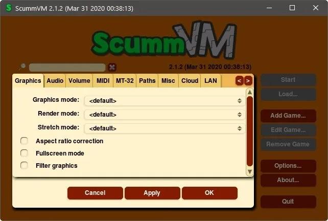 الألعاب القديمة على Windows الجديد Scummvm