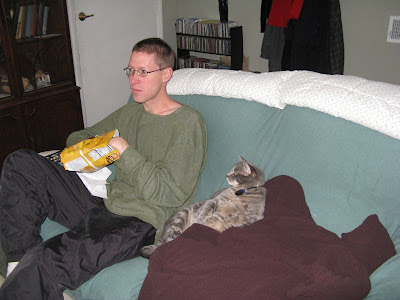 My two guys watching football on a Sunday afternoon :)