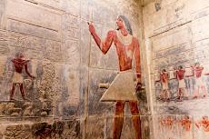 Colorful paintings in Saqqara