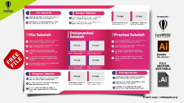 Free Brosur Sekolah : Download Kumpulan Brosur Sekolah PAUD, TK, SD, SMP Dan SMK