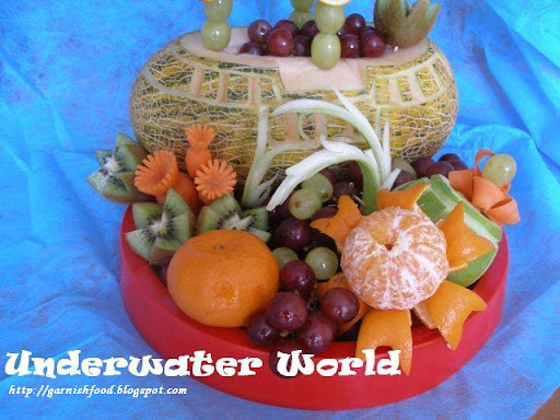 watermelon carving for baby shower. Fruit nderwater world