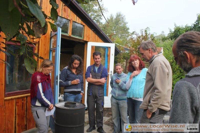 Rocketstove Massheater workshop in Groningen met Rob Grip, 2014