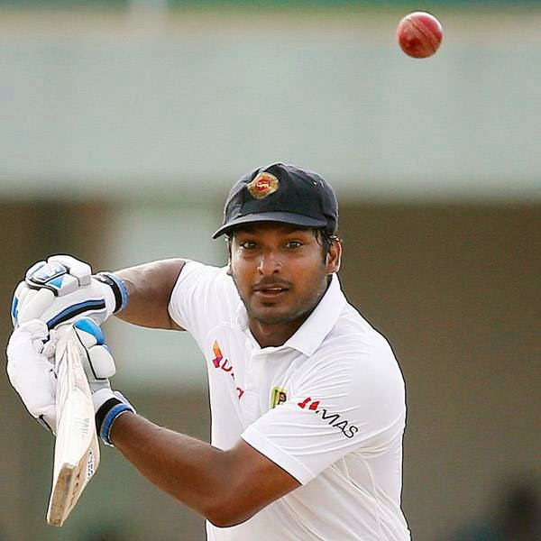 Sri Lanka's Kumar Sangakkara plays a shot during the fourth day of their first test cricket match against South Africa in Galle July 19, 2014.