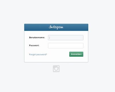 Instagram-Einloggen
