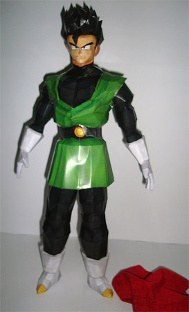 Dragon Ball Z Gohan Great Saiyaman Papercraft
