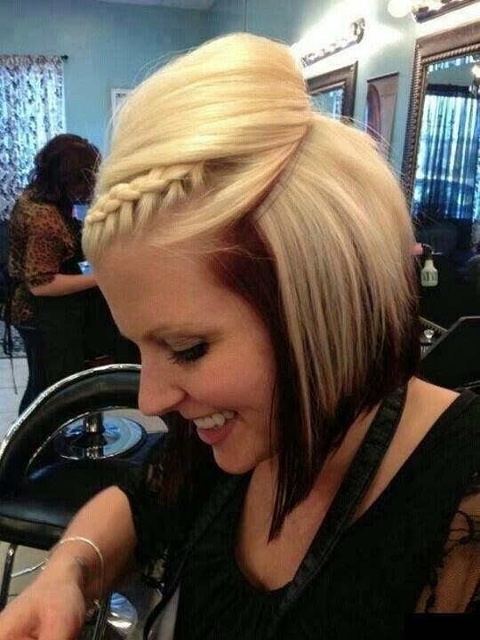 Pleasing Dark Brown Hair With Blonde Underneath Bangs Short Hair Fashions Short Hairstyles For Black Women Fulllsitofus