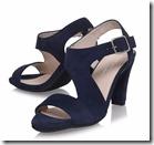 Carvela Comfort navy suede sandal