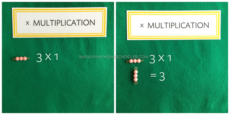 Multiplication Using Montessori Colored Bead Bars