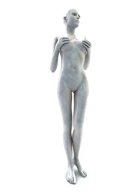 femme 3D pose artistique matiere nacre 3-05a