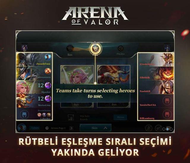 Arena of Valor 10 Ağustos Güncelleme Notları Açıklandı