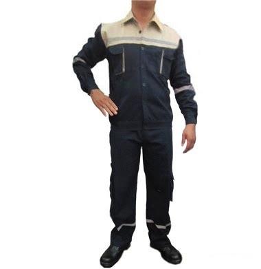 Quần áo bảo hộ lao động vải bạt dày chống cháy màu tím than - QAK0004