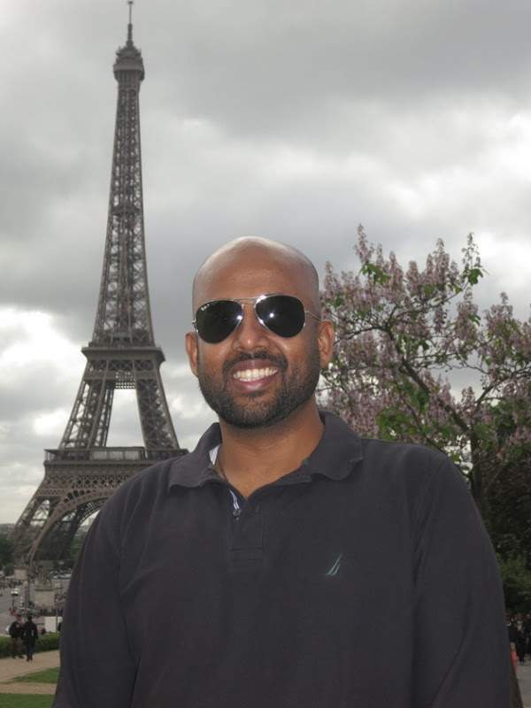 In front of Eiffel Tower, Paris